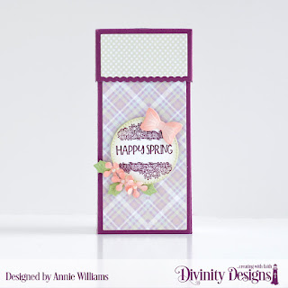 Stamp/Die Duos: Loads of Love, Paper Collection: Pastel, Custom Dies: Peaceful Poinsettia, Treat Tower, Pierced Circles, Bow (Deer Ornament SDD)