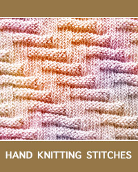 Learn Escalator Knit Purl Pattern with our easy to follow instructions at HandKnittingStitches.com