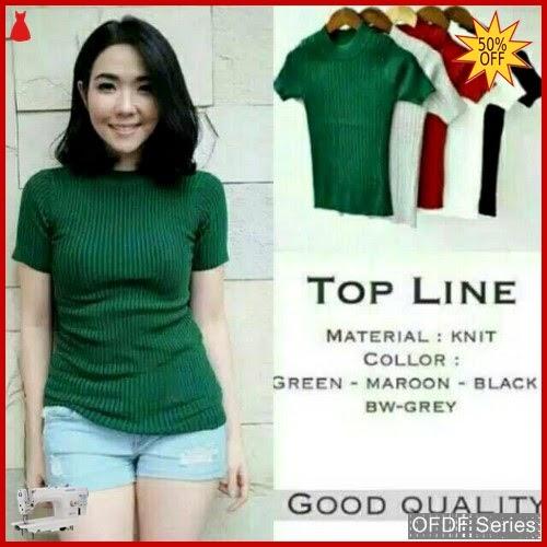 OFDF058 Atasan Blouse Line Knit Promo xx4 BMGShop