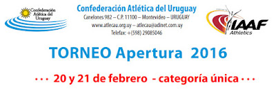 Pista - Torneo Apertura (cat. única, Montevideo, 20y21/feb/2016)