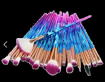 makeup brushes, kistovi, makeup kistovi, kistovi za šminkanje, šminka, jefitni kistovi za šminkanje, unicorn, purple, multicolor, dijamantni, soft brushes, mekani kistovi