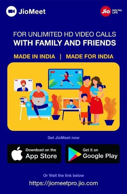 Jio Meet : Video Conferencing App Offers Unlimited Video Conference Chat Upto 100 Users / Participats