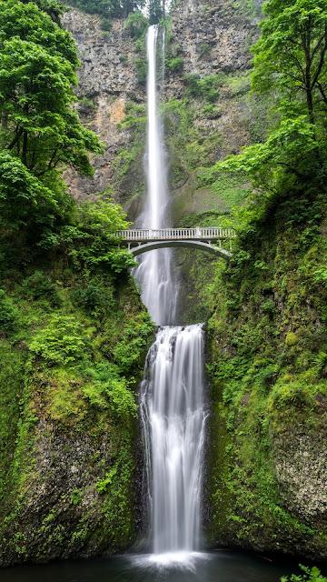 beautiful wallpaper waterfall nature