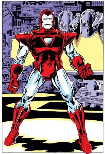 Armadura de Iron Man plateada