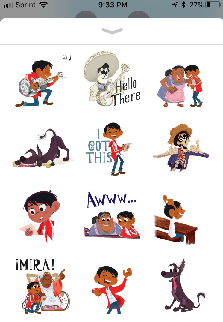 pixar coco ios sticker pack