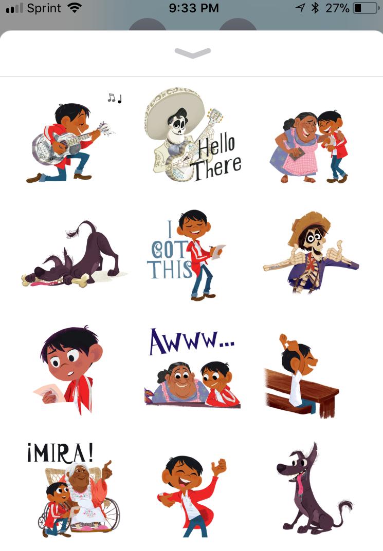 pixar coco ios sticker pack