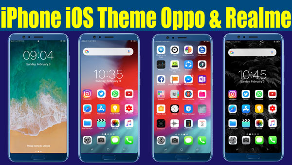 COLOR OS THEMES DOWNLOAD : OPPO THEME DOWNLOAD & REALME THEME DOWNLOAD and iphone ios 12 theme for oppo and realme