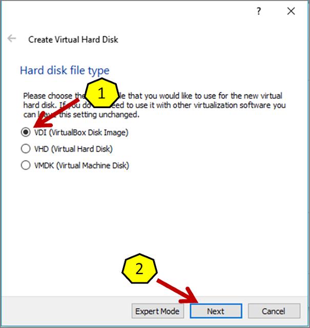 Instalasi Debian - Membuat Virtual Disk Image