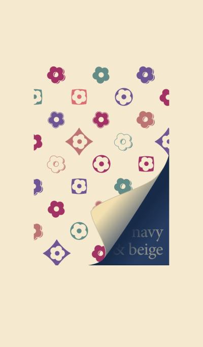 Freestyle beige & navy trend