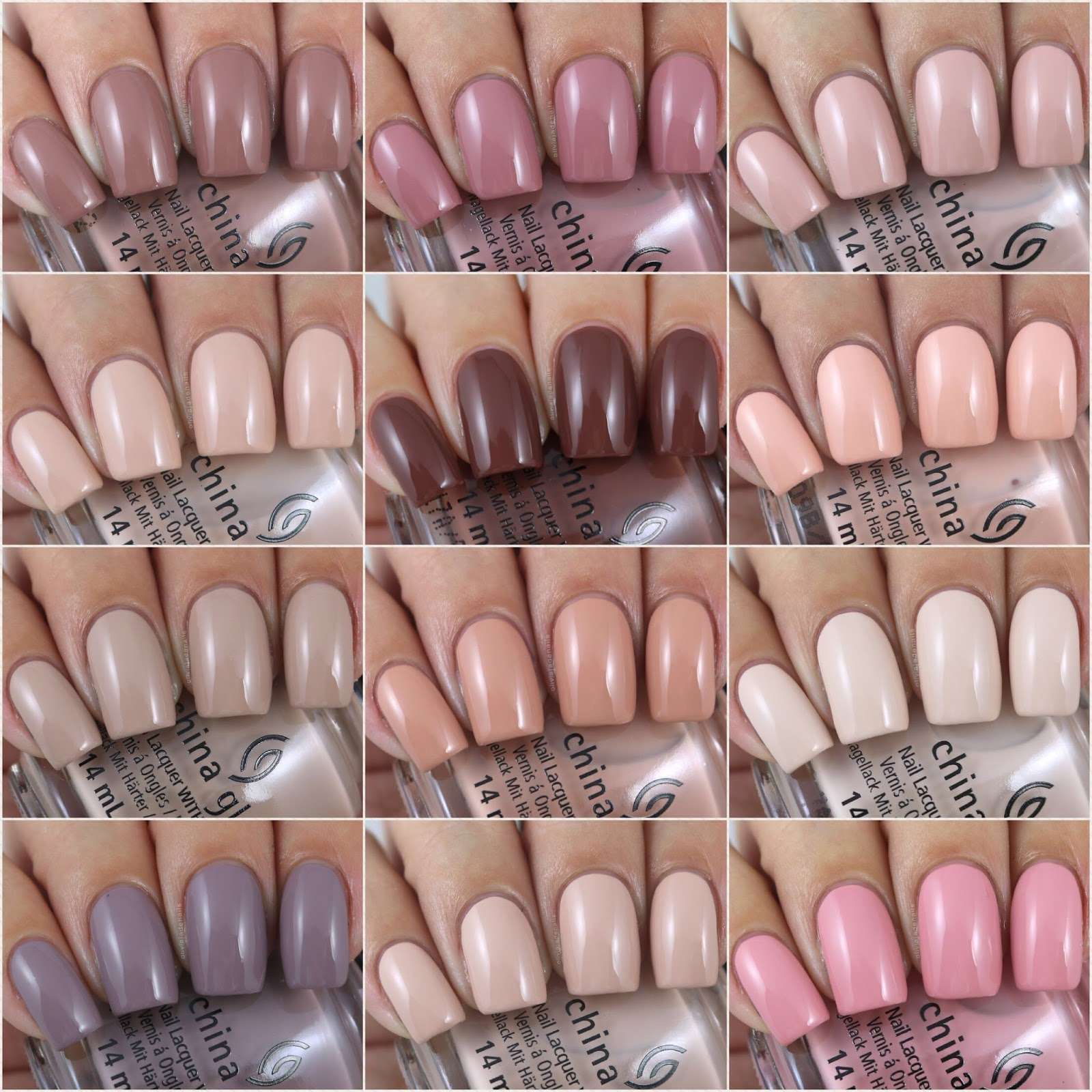 Olivia Jade Nails China Glaze Shades Of Nude Collection