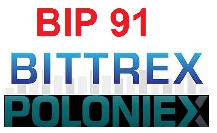 BIP 91 tại các sàn