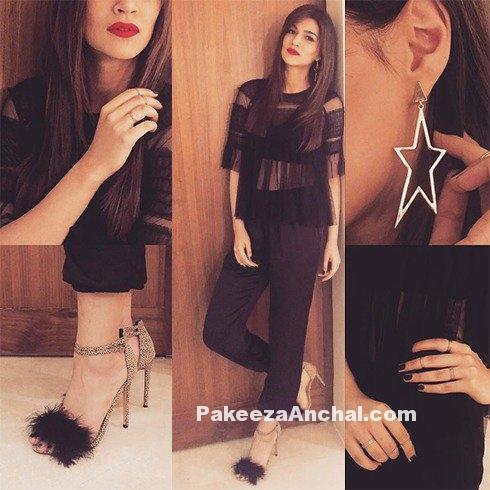 Kriti Sanon in Black Kurti & Fit Pants by Zara