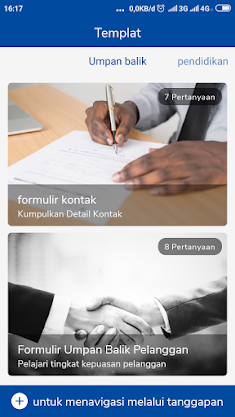 Contoh template google forms