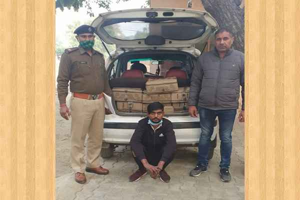 faridabad-crime-branch-sector-17-arrested-illegal-wine