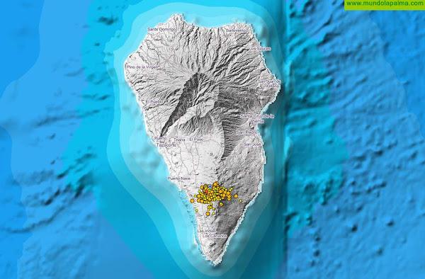 Un nuevo enjambre sísmico con más de 200 sismos sacude desde ayer a La Palma
