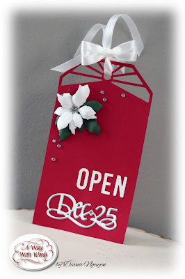Diana Nguyen, Christmas, tag, Elizabeth Craft Designs, Quietfire Design, Dec 25, alphabet