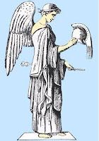 La diosa Nike-diosa de la victoria
