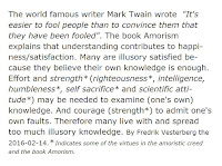 Image of quotation of Mark Twain and Amorism and Fredrik Vesterberg
