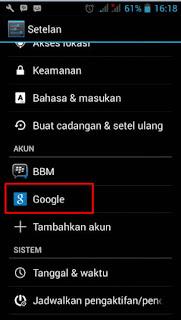 Cara Menghapus Akun Google di  Android