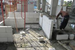 Cara Menghitung kebutuhan semen mortar untuk dinding bata ringan