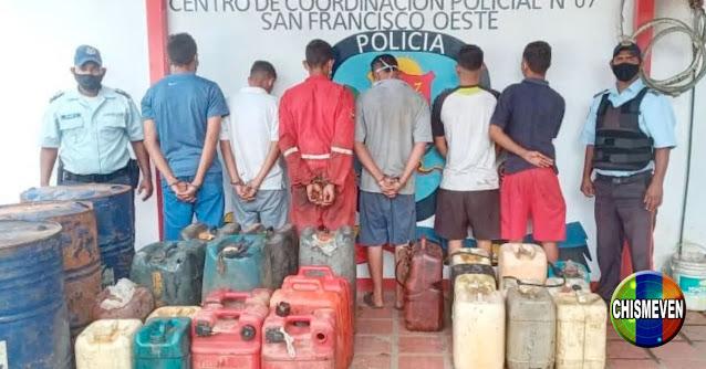 Presos por traficar gasolina en lanchas en el Zulia