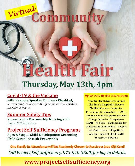 Free Virtual Health Fair Project Self-Sufficiency
