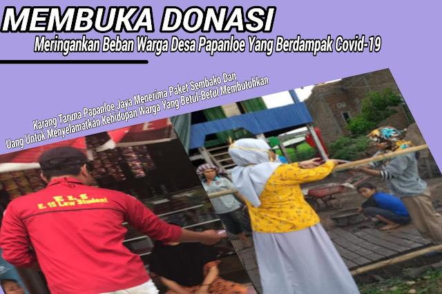 Karang Taruna dan Fasilitator di Desa Papanloe Buka Donasi