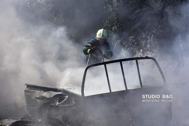 Πυρκαγιά σε συνεργείο αυτοκίνητων στο Ναύπλιο (βίντεο)