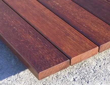 material decking merbau harga material Rp 370.,000,-