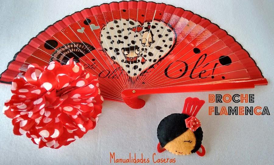 manualidades Caseras faciles se va a la feria a de abril con su logo vestido de flamenca