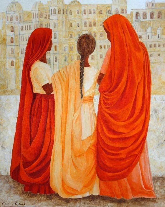 Итальянский художник. Christine Guénand