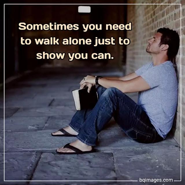 feeling alone images status