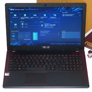 Laptop Gaming ASUS X550IK-BX001T Bekas Fullset