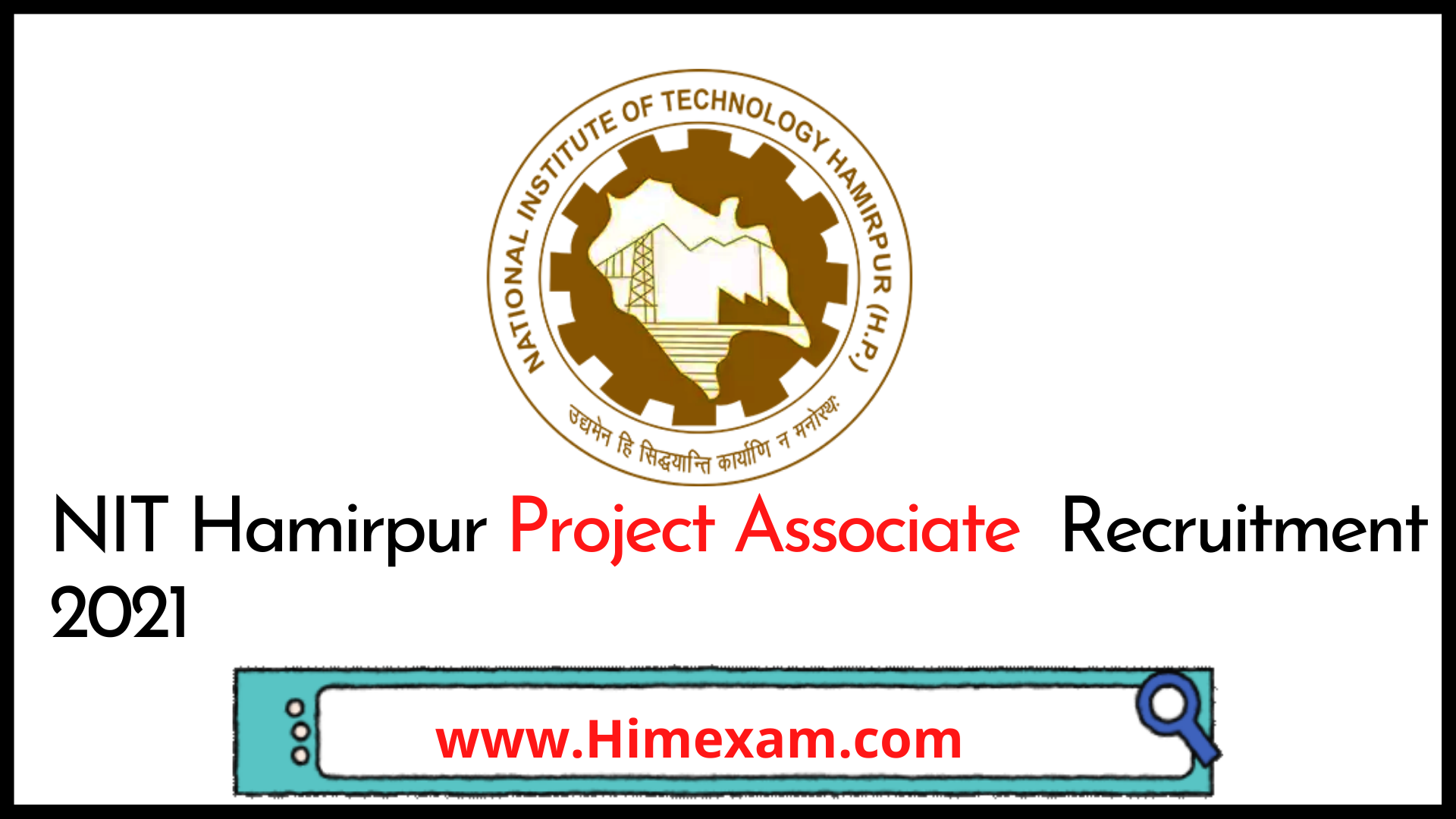NIT Hamirpur Project Associate  Recruitment 2021