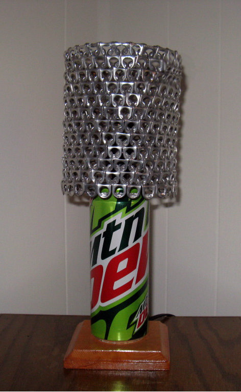 Mountain Dew Soda Can Lamp with Pull Tab Lampshade - The ...