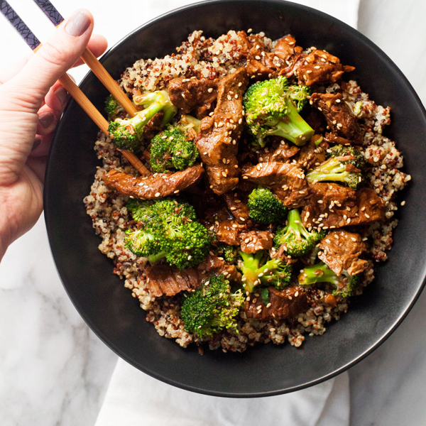 Slow Cooker Beef and Broccoli with Quinoa by Wholefully