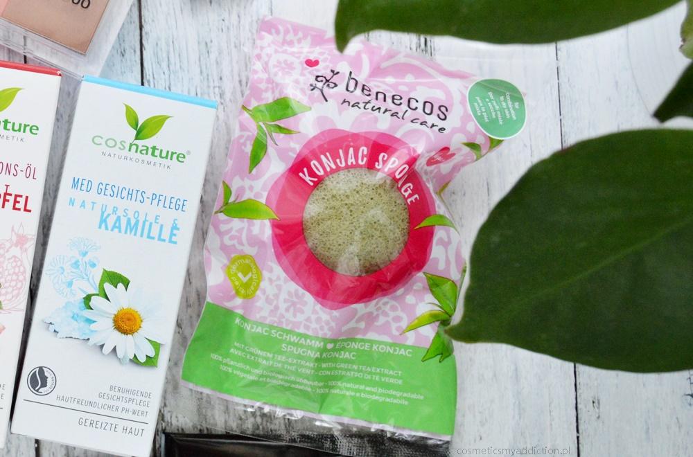 gąbka Konjac Benecos (green tea)