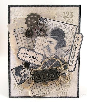 Darkroom Door Lots of Labels Rubber Stamp Set  Number Medley