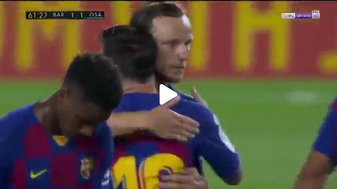 VIDEO: Barcelone 1:2 Osasuna / La Liga