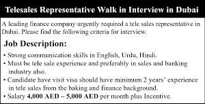 Telesales Executive/Sales Consultant Jobs in Dubai