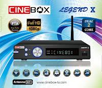 CINEBOX LEGEND X ATUALIZAÇÃO - 29/06/2017