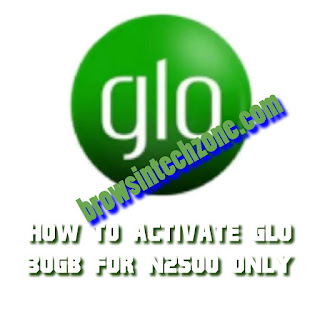 How to activate glo 30GB for N2500