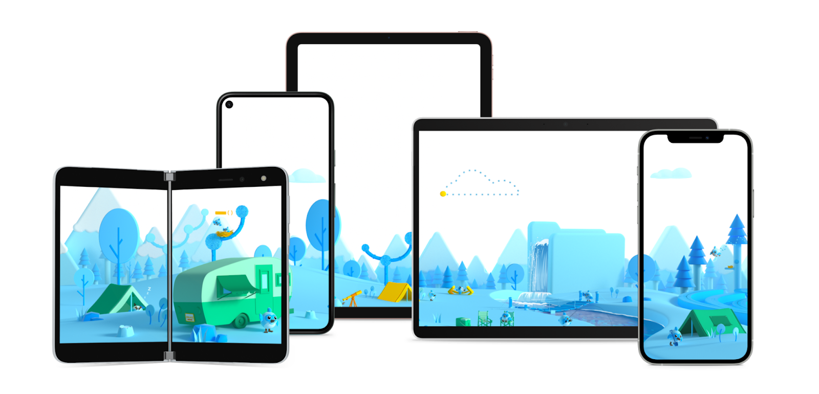 5 tablet and mobile device screens