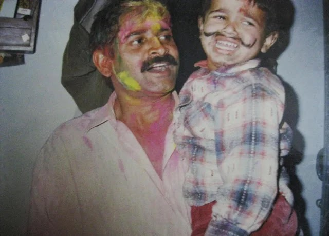 Bhuvan Bam childhood photo with his father