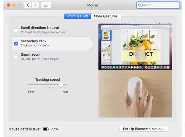كيفية النقر زر الماوس الأيمن على Mac