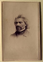 Carte de visite showing Frederick Douglass