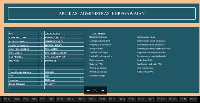 Adminstrasi Kepegawaian Sekolah Lengkap
