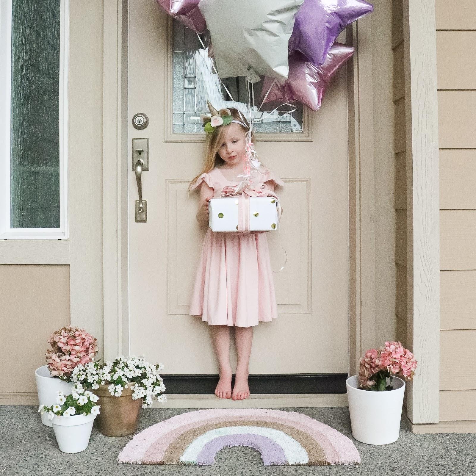 unicorn social distance birthday