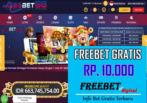 FREEBET GRATIS ABGBET88