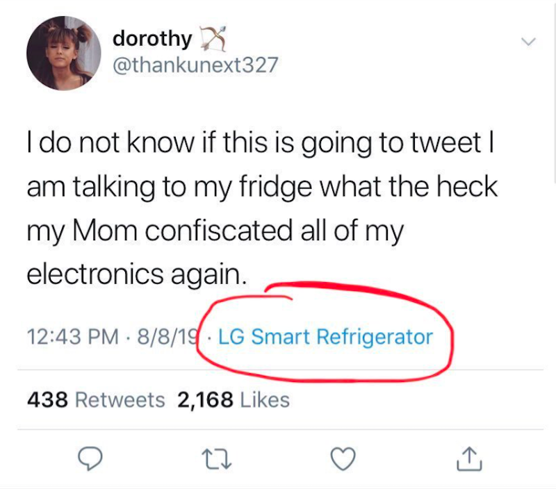 Teen tweets using LG smart refrigerator after mother confiscated her phone